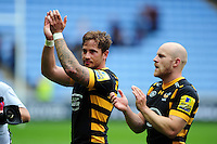 Danny Cipriani of Wasps acknowledges the crowd after the match. Aviva Premiership match, between Wasps and Exeter Chiefs on September 4, 2016 at the Ricoh Arena in Coventry, England. Photo by: Patrick Khachfe / JMP