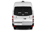Straight rear view of 2017 Mercedes Benz Sprinter-Crew-Van 2500-170-WB-High-Roof 4 Door Combi Rear View  stock images