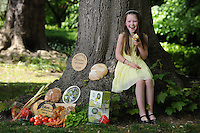 26-5-2015: REPRO FREE PHOTO:  Roisin Canning, (9) whose parents Bernie and Graham of Blast and Wilde, Slane County Meath were Supreme Champions for their butter in 2014 pictured at the launch of the Blas na h-Eireann / Irish Food Awards which will take place in Dingle in October. <br /> The Irish Food Awards will see more than 2,000 Irish products blind tasted and scored by over 350 judges who will select the Gold, Silver and Bronze winners in over 90 produce categories. Online entries close on 17th June 2015 and can be completed on www.irishfoodawards.com.<br /> Photo by Don MacMonagle<br /> <br /> Press release:<br /> Over 90% of Irish Food Producers Experiencing Growth<br /> - but cash flow and financial support among major <br /> <br /> A new survey of more than 2,000 Irish food producers across the island of Ireland shows that while they are experiencing substantial growth, issues such as 'cash flow', 'distribution' and 'access to financial advice' are major challenges, particularly for producers ready to develop into national and international markets. These survey results were announced at the launch of the 8th annual Blas na hEireann, The Irish Food Awards by the Minister for Agriculture, Food and the Marine, Simon Coveney on Tuesday 26th May 2015. This year's Irish Food Awards will see more than 2,000 Irish products blind tasted and scored by over 350 judges who will select the Gold, Silver and Bronze winners in over 90 produce categories. The Awards carry with them a huge amount of prestige and winning produce is used as a quality benchmark for Irish products amongst national and international retailers, buyers and distributors alike.  Online entries close on 17th June 2015 and can be completed on www.irishfoodawards.com.  The 'Producer Power Survey' showed that over 90% of producers across the island have seen their operations grow in the past year and a massive 95% feel confident that their businesses will continue to flourish throughout 2015.  Furthermore the vast majority of producers have said that