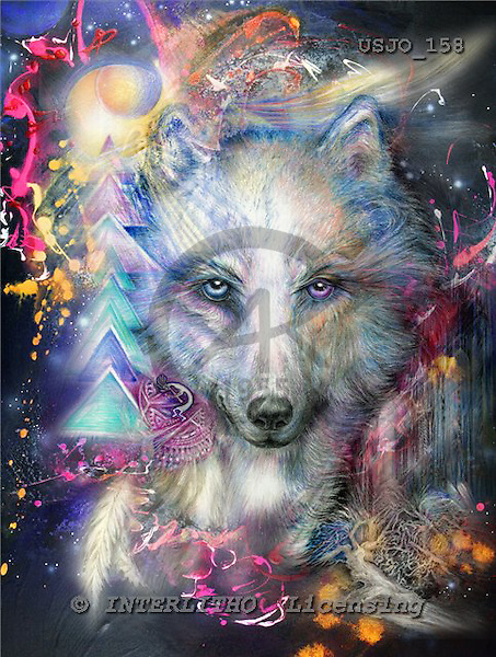 Marie, REALISTIC ANIMALS, REALISTISCHE TIERE, ANIMALES REALISTICOS, paintings+++++,USJO158,#A# ,Joan Marie, wolf