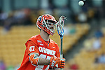 29 April 2016: Syracuse's Joe Gillis. The University of North Carolina Tar Heels played the Syracuse University Orange at Fifth Third Bank Stadium in Kennesaw, Georgia in a 2016 Atlantic Coast Conference Men's Lacrosse Tournament semifinal match.