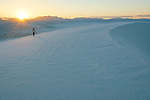 Walking the dunes at sunset, White Sands National Monument, New Mexico