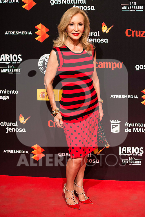 Carmen Lomana attends to the cocktail presentation of the XIX Malaga Film Festival at Circulo de Bellas Artes in Madrid. April 06, 2016. (ALTERPHOTOS/Borja B.Hojas)