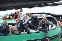 SKÛTSJESILEN: HEEG: 04-08-2015, IFKS skûtsjesilen, Schipper Lucas Bouma (Sneek) met het skûtsje  'Greate Pier' de A klasse, ©foto Martin de Jong