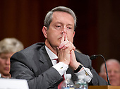 Randal Quarles, founder and head of The Cynosure Group, a private investment firm, testifies before the United States Senate Committee on Banking, Housing, and Urban Affairs on his nomination to be a Member of the Board of Governors of the Federal Reserve System, to be a Member of the Board of Governors of the Federal Reserve System (Reappointment), and to be Vice Chairman for Supervision of the Board of Governors of the Federal Reserve System.  Previously Quarrels served as Under Secretary of the Treasury for Domestic Finance in the George W. Bush Administration.<br /> Credit: Ron Sachs / CNP