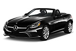 2019 Mercedes Benz SLC Roadster SLC300 2 Door Convertible angular front stock photos of front three quarter view