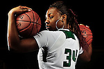 Ohio University junior Porsha Harris poses for a portrait Oct. 20 at the Convocation Center in Athens, OH.