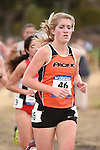 November 1, 2014; Sunnyvale, CA, USA; Pacific Tigers runner Lindsay Wourms (46) competes during the WCC Cross Country Championships at Baylands Park.