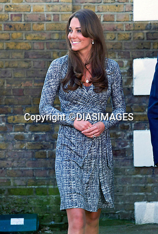 "CATHERINE, DUCHESS OF CAMBRIDGE .makes her first public appearance of the New Year when she visited Hope House, Clapham, London_19/02/2013.Mandatory credit photo:©DiasImages/NEWSPIX INTERNATIONAL..(Failure to credit will incur a surcharge of 100% of reproduction fees)..**ALL FEES PAYABLE TO: ""NEWSPIX  INTERNATIONAL""**..Newspix International, 31 Chinnery Hill, Bishop's Stortford, ENGLAND CM23 3PS.Tel:+441279 324672.Fax: +441279656877.Mobile:  07775681153.e-mail: info@newspixinternational.co.uk"