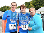 Patricia Cassidy, Martha Kerr and Ethna Dunhill who took part in the Seamie Weldon memorial run at St. Mary's GAA club Ardee. Photo:Colin Bell/pressphotos.ie