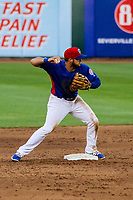 Tennessee Smokies second baseman David Bote (15) during a Southern League game against the Biloxi Shuckers on May 25, 2017 at Smokies Stadium in Kodak, Tennessee.  Tennessee defeated Biloxi 10-4. (Brad Krause/Krause Sports Photography)