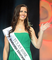 20-08-2013:  Haley O'Sullivan, Texas Rose ,before being announced  as the 2013 Rose of Tralee at the festival dome in Tralee on Tuesday night.   Picture: Eamonn Keogh (MacMonagle, Killarney)