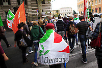 """Italy, Rome, November 5, 2011..Italy demonstrators by the Centre-lef party (Democratic Party)  take part in a rally against the government of Italian Prime Minister Silvio Berlusconi at the at the San Giovanni square in Rome November 5 , 2011. VIEWpress / Eduardo Munoz Alvarez..Italy's opposition crowded few street of Rome during a rally on Saturday demanding Silvio Berlusconi's resignation, the opposition """"DP"""" is accusing the prime minister of dragging the country into bankruptcy and global shame. International newspapers reported."""
