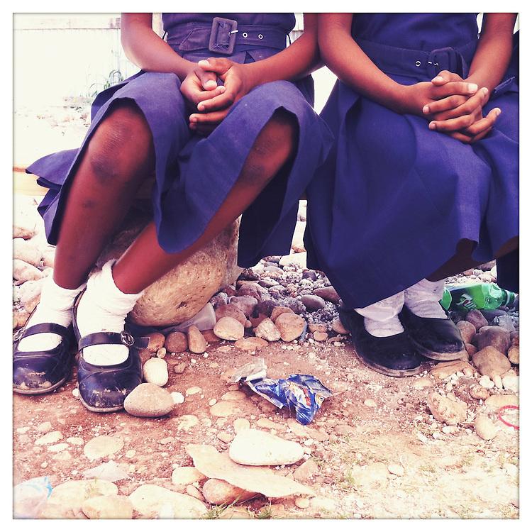 School girls at the National Girls School, sponsored by 10x10 partner, Plan, in Jacmel, Haiti.