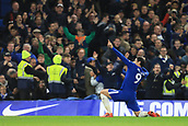5th November 2017, Stamford Bridge, London, England; EPL Premier League football, Chelsea versus Manchester United; Alvaro Morata of Chelsea celebrates after scoring as he makes it 1-0