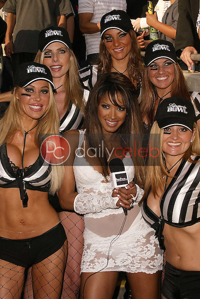 Traci Bingham and the referees