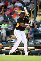 Pittsburgh Pirates outfielder Gregory Polanco (25) during the Black & Gold intrasquad game on March 2, 2015 at McKechnie Field in Bradenton, Florida.  (Mike Janes/Four Seam Images)