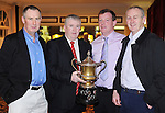 The minor football management team of Michael Neylon, Maurice Walsh, Donal Hanifin and Noel Normoyle pictured during Éire Óg GAA's medal presentation night at the Auburn Lodge Hotel in Ennis. Photograph by Declan Monaghan