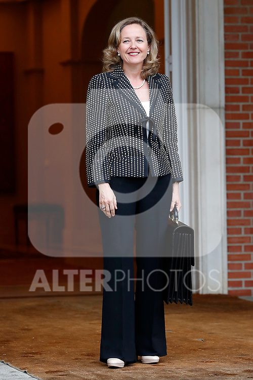 Nadia Calvino, Minister of Economy, arrives at the first Council of Ministers of the new Government of Spain, chaired by Pedro Sanchez. June 8,2018. (ALTERPHOTOS/Acero)