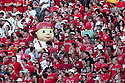 10 Sept 2011: Lil' Red hanging out with the Nebraska Cornhusker fans during the game against the Fresno State Bulldogs at Memorial Stadium in Lincoln, Nebraska. Nebraska defeated Fresno State 42 to 29.