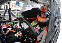 Nov. 14, 2009; Avondale, AZ, USA; NASCAR Sprint Cup Series driver Joey Logano during practice for the Checker O'Reilly Auto Parts 500 at Phoenix International Raceway. Mandatory Credit: Mark J. Rebilas-
