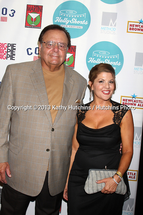 LOS ANGELES - AUG 15:  Paul Sorvino, Renee Props at the 9th Annual HollyShorts Film Festival Opening Night at the TCL Chinese 6 Theaters on August 15, 2013 in Los Angeles, CA