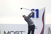 Lucas Bjerregaard (DEN) on the 11th tee during Round 2 of the D+D Real Czech Masters at the Albatross Golf Resort, Prague, Czech Rep. 02/09/2017<br /> Picture: Golffile | Thos Caffrey<br /> <br /> <br /> All photo usage must carry mandatory copyright credit     (&copy; Golffile | Thos Caffrey)