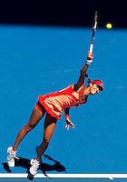 ANA IVANOVIC (SRB) against  PETRA KVITOVA (CZE) in the fourth round of the Women's Singles. Petra Kvitova beat Ana Ivanovic  6-2 7-6..23/01/2012, 23rd January 2012, 23.01.2012 - Day 8..The Australian Open, Melbourne Park, Melbourne,Victoria, Australia.@AMN IMAGES, Frey, Advantage Media Network, 30, Cleveland Street, London, W1T 4JD .Tel - +44 208 947 0100..email - mfrey@advantagemedianet.com..www.amnimages.photoshelter.com.