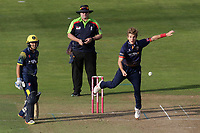 Adam Zampa in bowling action for Essex during Glamorgan vs Essex Eagles, Vitality Blast T20 Cricket at the Sophia Gardens Cardiff on 7th August 2018
