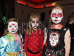 Dita, Gabriele and Kamile pictured at the halloween celebrations at the Laurence Centre. Photo:Colin Bell/pressphotos.ie