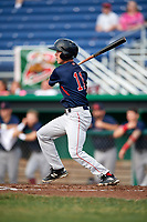 Lowell Spinners shortstop Grant Williams (11) at bat during a game against the Batavia Muckdogs on July 16, 2018 at Dwyer Stadium in Batavia, New York.  Lowell defeated Batavia 4-3.  (Mike Janes/Four Seam Images)