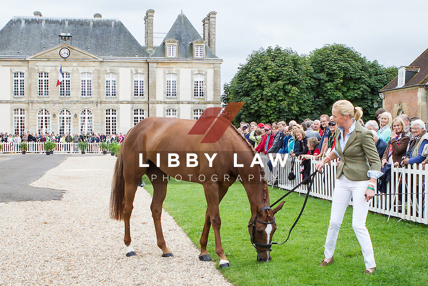 IRL-Aoife Clark (FENYAS ELEGANCE) FIRST HORSE INSPECTION: EVENTING: The Alltech FEI World Equestrian Games 2014 In Normandy - France (Wednesday 27 August) CREDIT: Libby Law COPYRIGHT: LIBBY LAW PHOTOGRAPHY - NZL