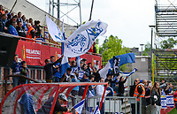 20170513 - MECHELEN , BELGIUM : Gent's fans and supporters pictured during the final of Belgian cup 2017 , a womensoccer game between RSC Anderlecht and KAA Gent Ladies , in the AFAS stadion in Mechelen , saturday 13 th Mayl 2017 . PHOTO SPORTPIX.BE | BELGA |  DAVID CATRY
