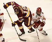 Dominic Toninato (UMD - 19), Michael Davies (DU - 21) - The University of Denver Pioneers defeated the University of Minnesota Duluth Bulldogs 3-2 to win the national championship on Saturday, April 8, 2017, at the United Center in Chicago, Illinois.