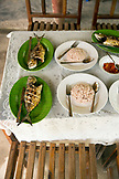 INDONESIA, Flores, Riung, fish called Bang Kolong is served for lunch at the Cafe de Mar