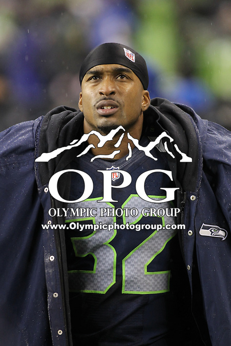 Dec 23, 2012:  Seattle Seahawk's Jeron Johnson against the San Francisco during Sunday nights game of the week at Century Link Stadium in Seattle WA.  Seattle defeated San Francisco 42-13.