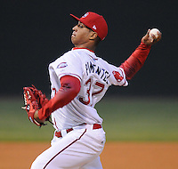 Sept. 17, 2009: Starting pitcher Stolmy Pimentel (37) of the Greenville Drive in Game 3 of the South Atlantic League Championship Series between the Drive and the Lakewood BlueClaws Sept. 17, 2009, at Fluor Field at the West End in Greenville, S.C.  Photo by: Tom Priddy/Four Seam Images