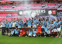 Manchester City celebrate winning the FA Community Shield during Chelsea vs Manchester City, FA Community Shield Football at Wembley Stadium on 5th August 2018