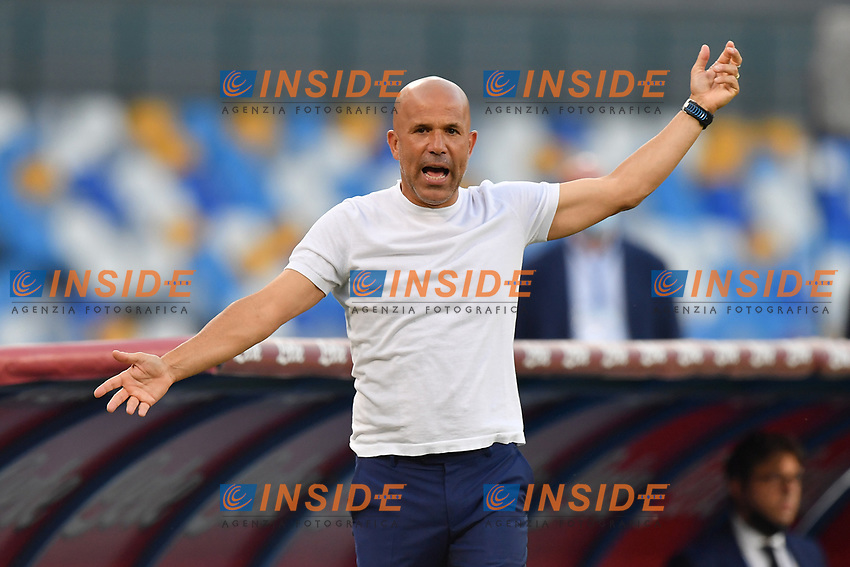 Luigi Di Biagio of SPAL gestures during the Serie A football match between SSC Napoli and SPAL at stadio San Paolo in Naples ( Italy ), June 28th, 2020. Play resumes behind closed doors following the outbreak of the coronavirus disease. <br /> Photo Carmelo Imbesi / Insidefoto