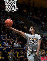 Tyrone Wallace of California shoots the ball during the game against Fresno State at Haas Pavilion in Berkeley, California on December 14th, 2013.  California defeated Fresno State, 67-56.