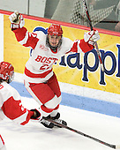 Jill Cardella (BU - 22) - The Boston University Terriers defeated the Harvard University Crimson 5-2 on Monday, January 31, 2012, in the opening round of the 2012 Women's Beanpot at Walter Brown Arena in Boston, Massachusetts.