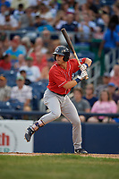 New Hampshire Fisher Cats Nash Knight (10) bats during an Eastern League game against the Trenton Thunder on August 20, 2019 at Arm & Hammer Park in Trenton, New Jersey.  New Hampshire defeated Trenton 7-2.  (Mike Janes/Four Seam Images)