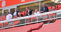 13th June 2020, Allianz Erena, Munich, Germany; Bundesliga football, Bayern Munich versus Borussia Moenchengladbach;  Oliver Kahn (Bayern) and Uli Hoeness ( Bayern)