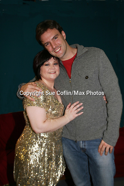 "OLTL - Kathy Brier - Marcie poses with boyfriend Jason Munt - The Divas of Daytime TV (three great soap stars, two great ABC soaps and one great show) - ""A Great Night of Music and Comedy"" on November 7, 2008 at the Mishler Theatre, Altoona, PA with meet and greet, autographs and photo ops. Portion of proceeds to benefit Altoona Mirror Season of Sharing. Mid-Life Productions Inc in association with Creative Entertainment presents this great show. (Photo by Sue Coflin/Max Photos)"