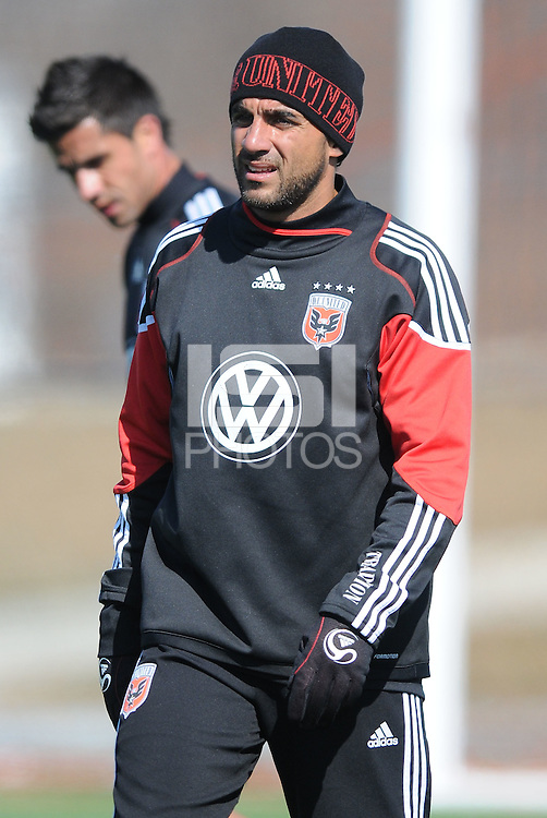 D.C. United midfielder Dwayne De Rosario (7)During the first training session after returning from Arizona, at Long Bridge Park in Arlington Virginia, Monday February 20, 2012.