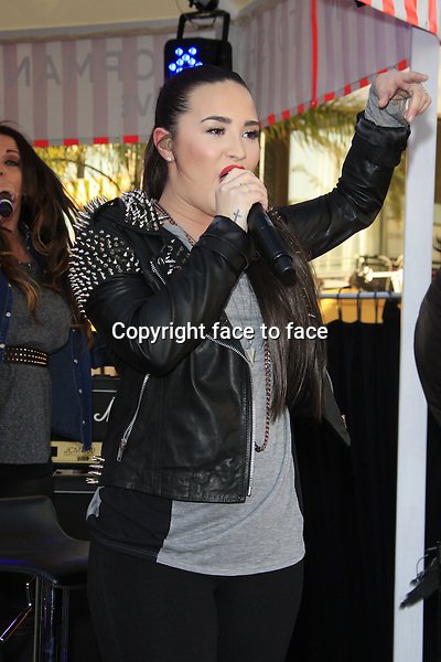 LOS ANGELES - FEB 14: Demi Lovato at the Topshop Topman LA Grand Opening at The Grove on February 14, 2013 in Los Angeles, California..Credit: Martin Smith/face to face
