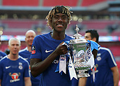 19th May 2018, Wembley Stadium, London, England; FA Cup Final football, Chelsea versus Manchester United; Trevoh Chalobah posing with the FA Cup trophy