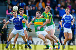 Bryan Sheehan and Brendan O'Sullivan South Kerry in action against David Moran  Kerins O'Rahillys in the Kerry Senior Football Championship Semi Final at Fitzgerald Stadium on Saturday.