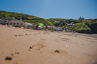 Friday  13  June  2014<br /> <br /> Pictured:  Llangrannog Beach<br /> Re: Views of Llangrannog, Ceredigion, Wales UK
