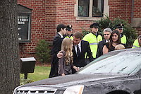 Elizabeth Edwards Funeral Service At Edenton Street United Methodist Church Raleigh North Carolina USA<br /> John Edwards,Emma Claire,Jack &amp; Cate